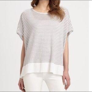 Eileen Fisher Striped Linen Boxy Knit Top XS